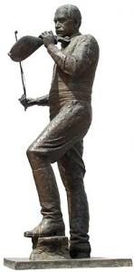 Το αγαλμα του Κώστα Μουντάκη στο Ρέθυμνο