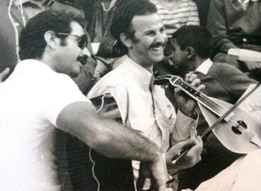 Ο Νίκος Ξυλούρης με το στενό του συνεργάτη και φίλο του Ζαχαρία Φασουλά