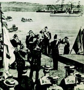 Άφιξη του πρίγκιπα Γεωργίου στα Χανιά.