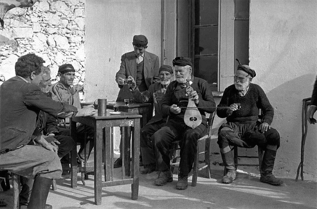 Crete village life:coffeeshop