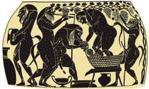 Αρχαίοι - Παραγωγή κρασιού