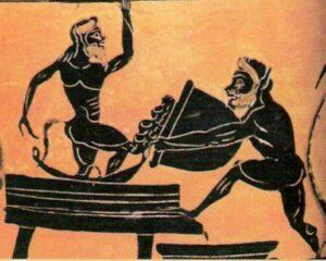 Αρχαίοι σε πατητήρι