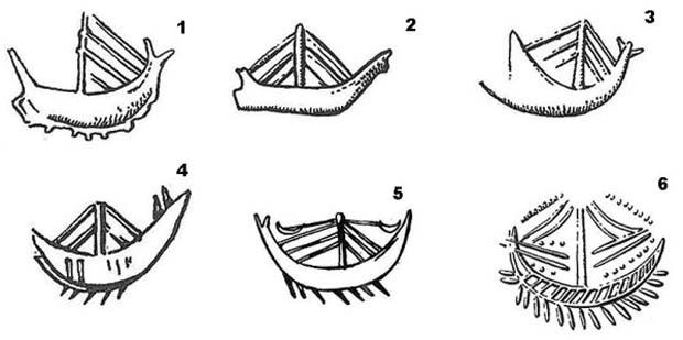 Σχέδια των πλοίων που χρησιμοποιούσαν την ίδια εποχή οι Κρήτες