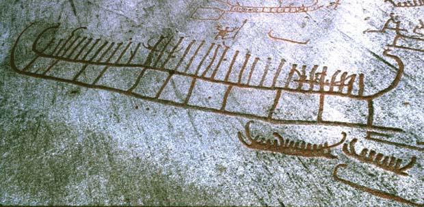 Πετρογλυφικά με πλοία των Νορβηγών