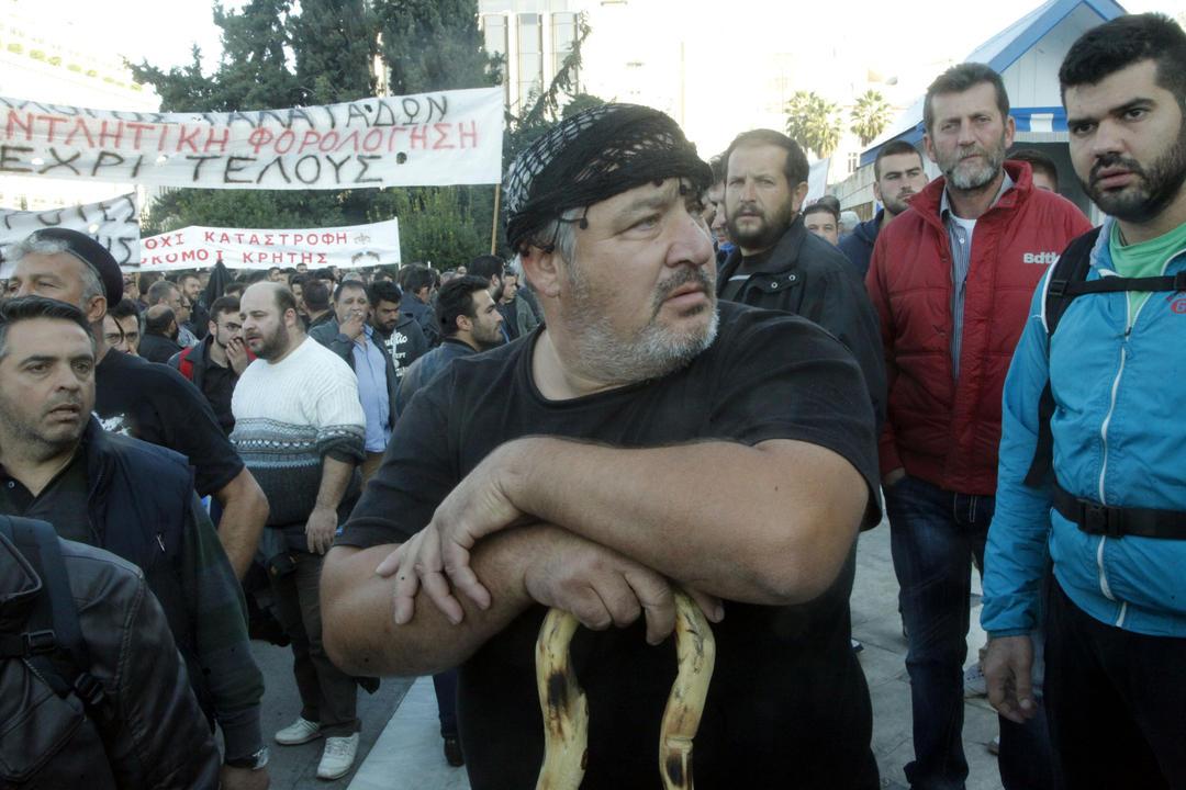 Κρητικοί στο αγροτικό συλλαλητήριο