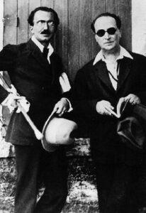 Ο Νίκος Καζαντζάκης με τον Άγγελο Σικελιανό (10.10.1921)