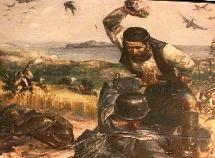 Ο Κρητικός που σκότωσε τον Γερμανό αλεξιπτωτιστή με μια πέτρα και έγινε σύμβολο της μάχης της Κρήτης
