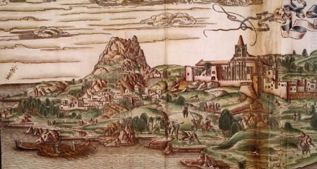 Άποψη του Χάνδακα στα 1486, 22 χρόνια πριν την καταστροφή, σε δημιουργία του Ολλανδού Bernhard von Breydenbach (1440- 1497), Bibliothèque nationale de France