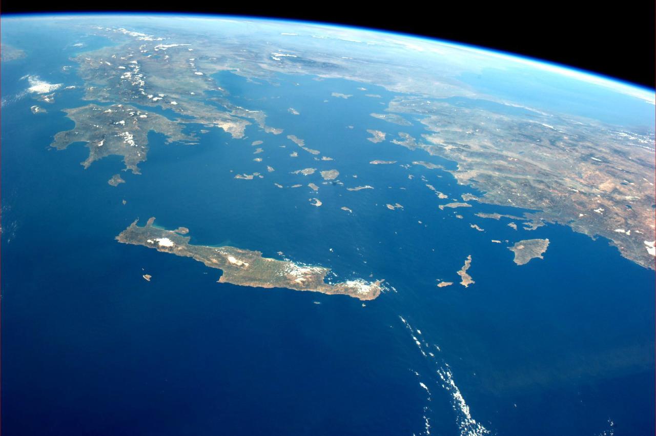 Η Κρήτη από το διάστημα