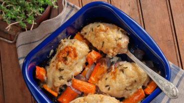 Κοτόπουλο στο φούρνο με γραβιέρα
