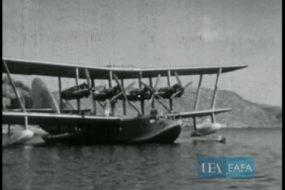 Σπάνιο βίντεο ανεφοδιασμού υδροπλάνου στην Κρήτη την δεκαετία του '30