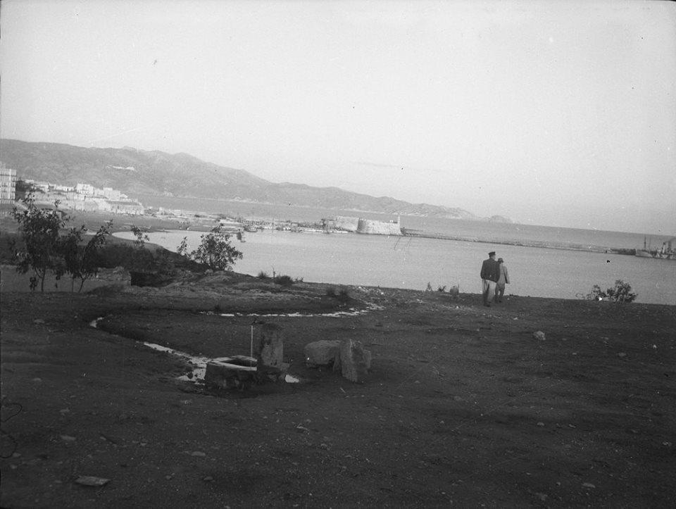 Κρήτη 1941. Ηράκλειο. Άποψη από μακριά του λιμανιού