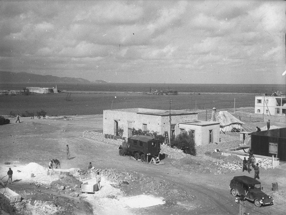 Κρήτη 1941. Ηράκλειο. Άποψη του λιμανιού