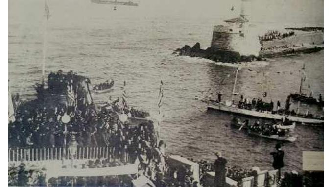 Η ύψωση της Ελληνικής σημαίας στο φρούριο Φιρκά