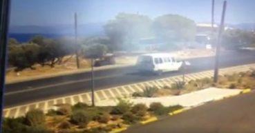 Γουρούνα πέφτει πάνω σε στύλο στην Κρήτη (video)