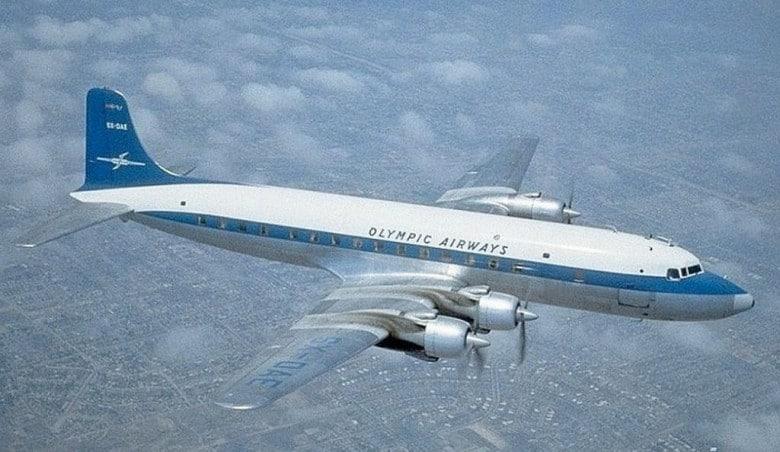 To μοιραίο αεροπλάνο με νηολόγιο SX-DAE σε διαφημιστική φωτογραφία της εποχής