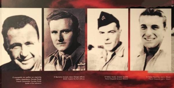 Οι σαμποτέρ: G. Berge (Μπερζέ), Lord George Jellice (Λόρδος Τζέλικο), J. Mouhot (Μουό), P. Leostic (Λεοστίκ), J. L. Sibart (Σιμπάρ)